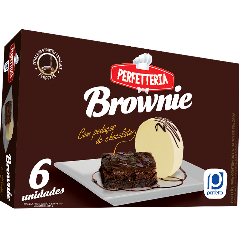 Brownie com pedaços de chocolate